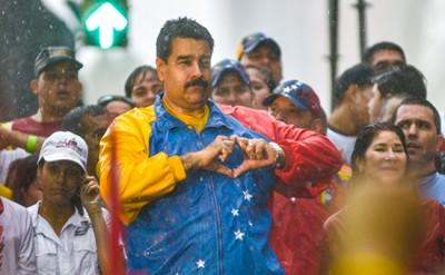 Venezuelan President Maduro speaks during a rally in Caracas