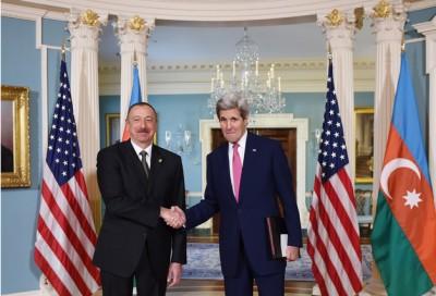 """Алиев: """"Я благодарен правительству США за поддержку в реализации данного проекта"""""""
