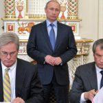 Despite sanctions, ExxonMobil starts drilling in Russia. Putin cheers.
