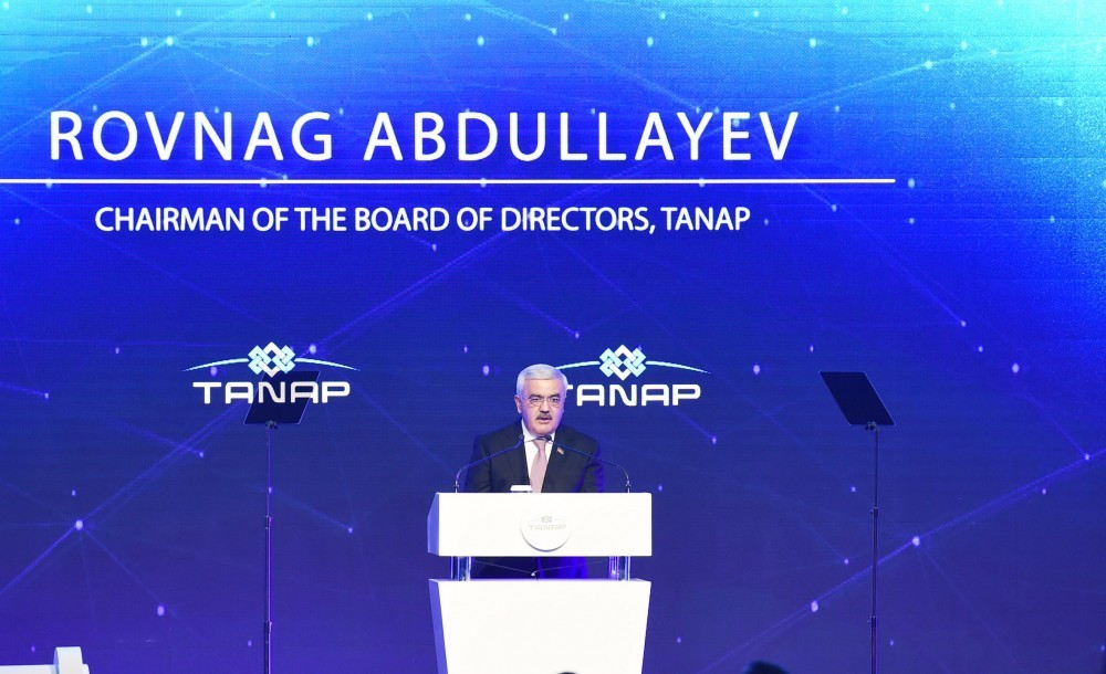 Rovnag Abdullayev: TANAP to accelerate economic development of Turkey and Azerbaijan