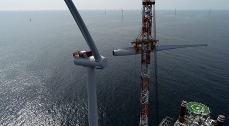 All 76 turbines installed at Denmark's largest offshore wind farm