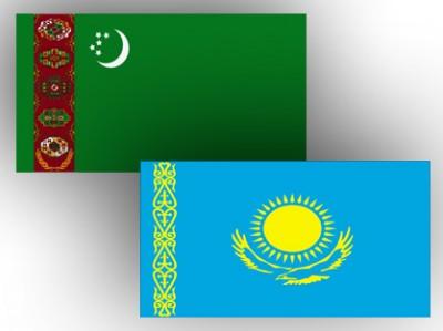 Turkmenistan_Kazakhstan_flags_Album_100512