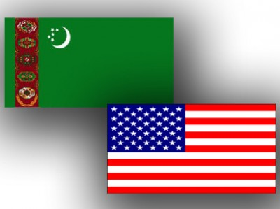 Turkmenistan_USA_flags_141112