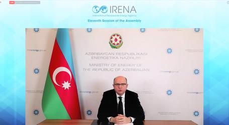 Pərviz Şahbazov Beynəlxalq Bərpa Olunan Enerji Agentliyinin 11-ci Assambleyasında iştirak edib