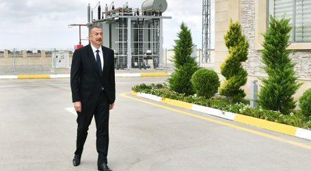 Ильхам Алиев принял участие в открытии подстанции «Бузовна-1» в Хазарском районе Баку — ФОТО