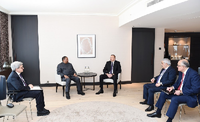 President Ilham Aliyev met with OPEC Secretary General in Davos