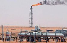 Oil hits 140 dollars per barrel for first time...epa01396850 (FILE) A gas flame is seen in the desert at Khurais oil field, about 160 km from Riyadh, Kingdom of Saudi Arabia, 23 June 2008. The oil price hit a new record on 26 June 2008, surpassing 140 dollars per barrel for the first time. Oil rose as high as 140.39 dollars per barrel, after Libya threatened to cut its supply and the leader of OPEC said prices will likely rise even further this summer, it was reported by financial corrispondents.  EPA/ALI HAIDER
