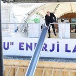 """Prezident """"Qobu"""" Elektrik Stansiyasının təməlini qoydu"""