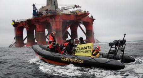 Greenpeace заплатит штраф за протесты на буровой установке BP в Британии