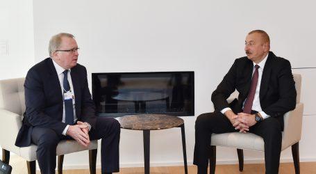 """İlham Əliyev Davosda """"Equinor"""" şirkətinin baş icraçı direktoru ilə görüşüb"""