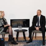 """İlham Əliyev Davosda """"IBM"""" şirkətinin baş icraçı direktoru ilə görüşüb"""