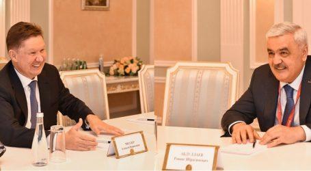 """SOCAR və """"Qazprom"""" rəhbərləri qaz sektorunda əməkdaşlığı müzakirə ediblər"""