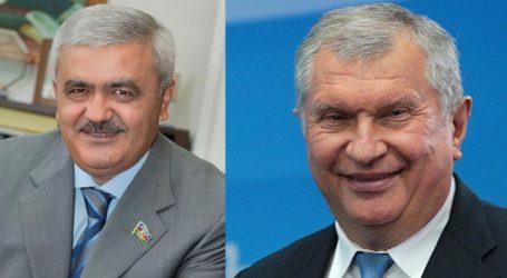 """SOCAR-ın prezidenti """"Rosneft""""in baş icraçı direktoru ilə görüşüb"""