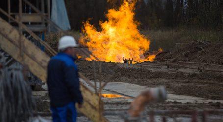 Скважина горит на месторождении Каламкас — видео
