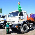 В распоряжение ГК «Туркменгаз» прибыла новая спецтехника «КАМАЗ»