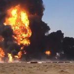 На границе Ирана и Афганистана взорвались десятки бензовозов — Видео