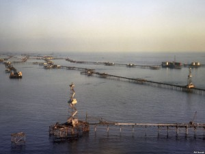 In Old Field of Caspian Sea Oil Production Brought up to 1 Million Tons