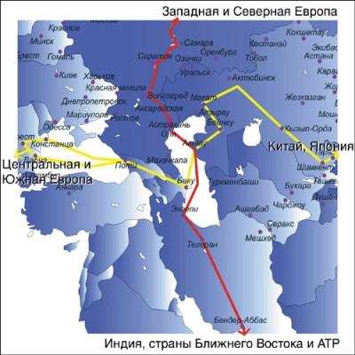 Xəzər dənizi vasitəsilə Rusiya və İran arasında yüklərin daşınmasına başlanıb