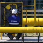 From January to April Gasprom's income from gas export dropped by 29%