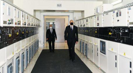 Президент Азербайджана ввел в строй после реконструкции подстанцию «8 км» в Баку