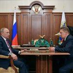 Миллер доложил Путину об ожидающемся рекорде по экспорту газа