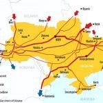 Transit of gas through Ukraine falls