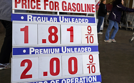 The price sign outside Costco in Westminster, Colorado, shows gas selling for $1.81.9 for the first time in years