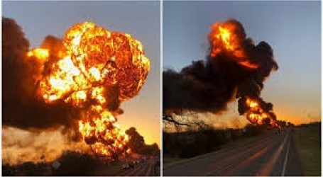 В Техасе взорвался поезд с нефтепродуктами — видео