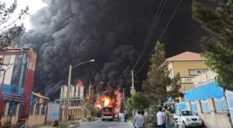 İranda kimya zavodunda yanğın — Foto